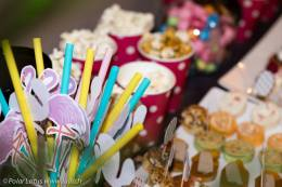 Paille flamingo homemade - canapés - Popcorn - Make Up Party