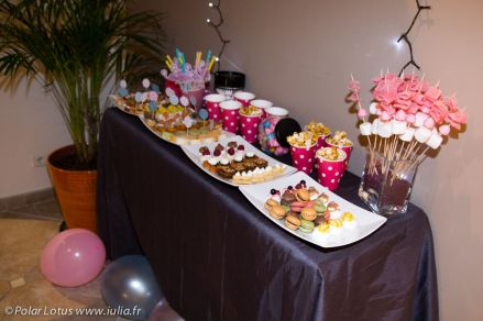 Buffet Make Up Party - flamingo pink & blue