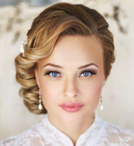 Inspiration maquillage et coiffure mariée vue sur Pinterest